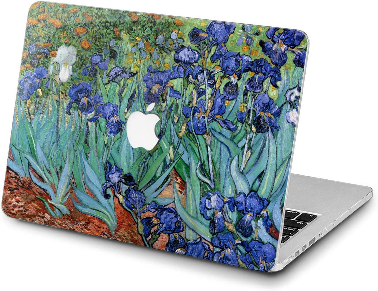 Lex Altern Hard Case for Apple MacBook Pro 15 Air 13 inch Mac Retina 12 11 2020 2019 2018 2017 2016 Blue Artwork Laptop Artistic Van Gogh Plastic Painting Cover Girl Women Irises Shell Touch Bar