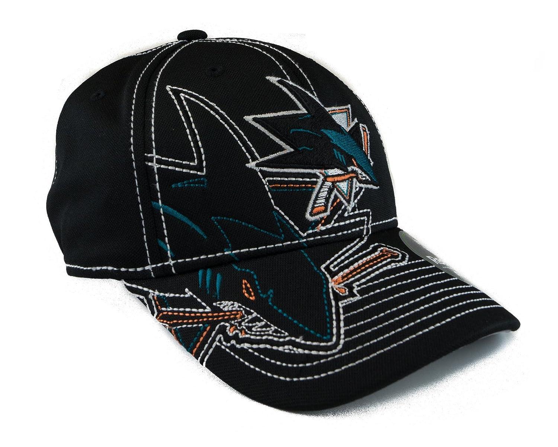 Adult S//M Reebok San Jose Sharks Black Draft Cap Fitted Hat