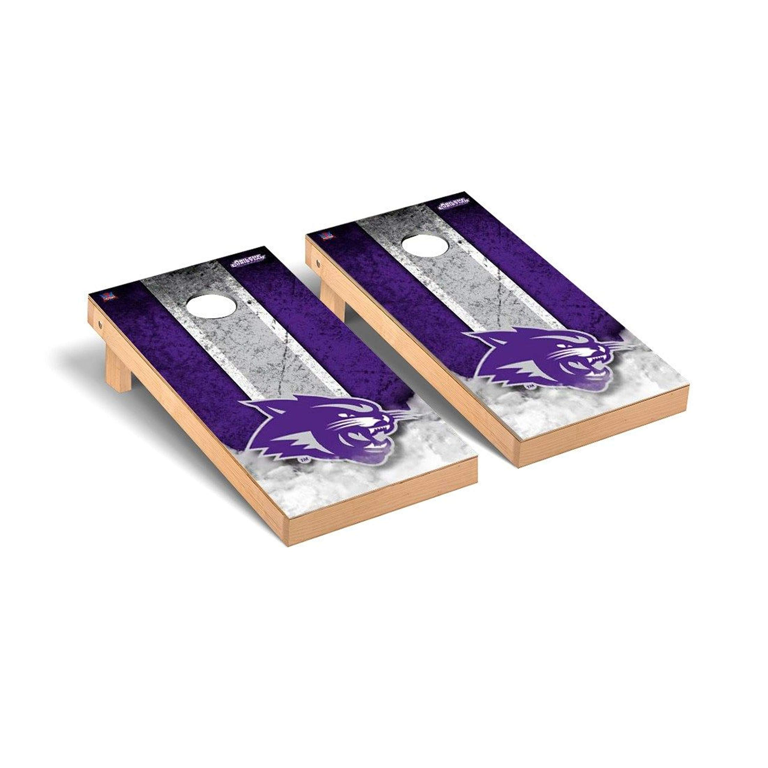Victory Tailgate Regulation Collegiate NCAA Vintage Series Cornhole Board Set - 2 Boards, 8 Bags - Abilene Christian Wildcats