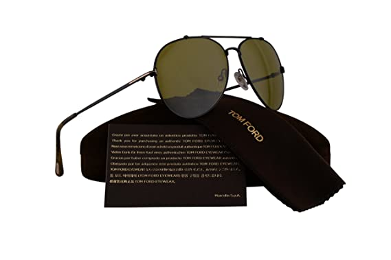 59de24ba87b3 Tom Ford FT0497 Indiana Sunglasses Shiny Black w Green Lens 01N TF497 60mm   Amazon.co.uk  Clothing