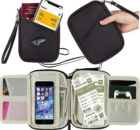 d663919edff Family Travel Wallet Passport Holder Family Women Men Document Card  Organiser passport Holder RFID Blocking Document
