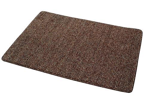 Teppichläufer 90 x 60 cm braun strukturiert Vorleger Läufer ...