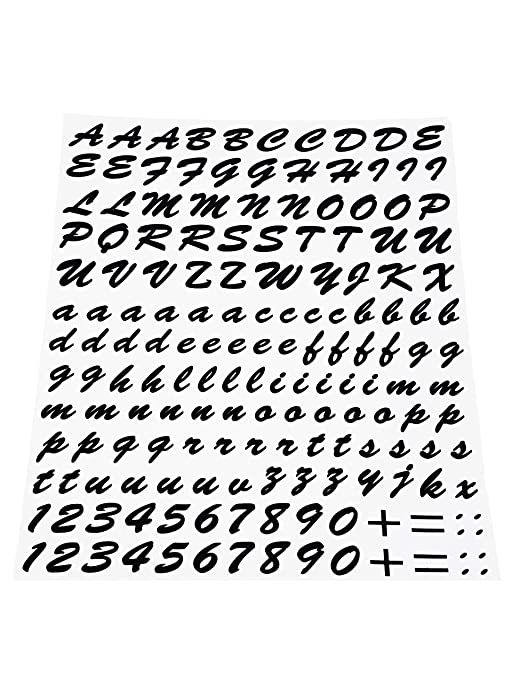 Quattroerre 1231 Kit Lettere Adesive Nero Amazonit Auto E Moto