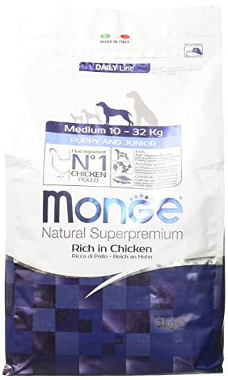 Monge Natural Superpremium Dog Medium Puppy Dry Dog Food Amazon Co