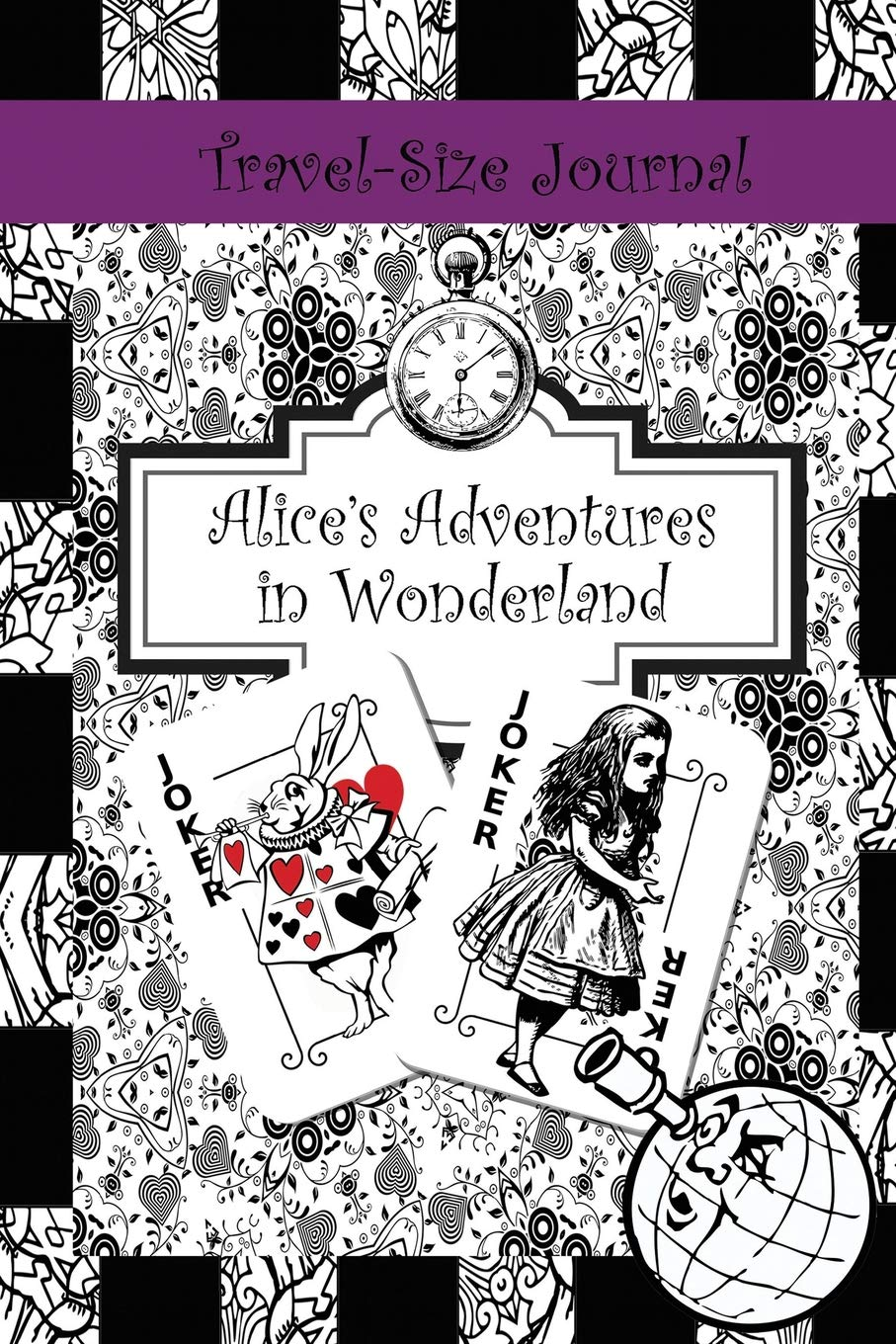 travel size journal alices adventures in wonderland 6 x 9 mini books notebooks diaries and journals for writing drawing doodling in volume 1
