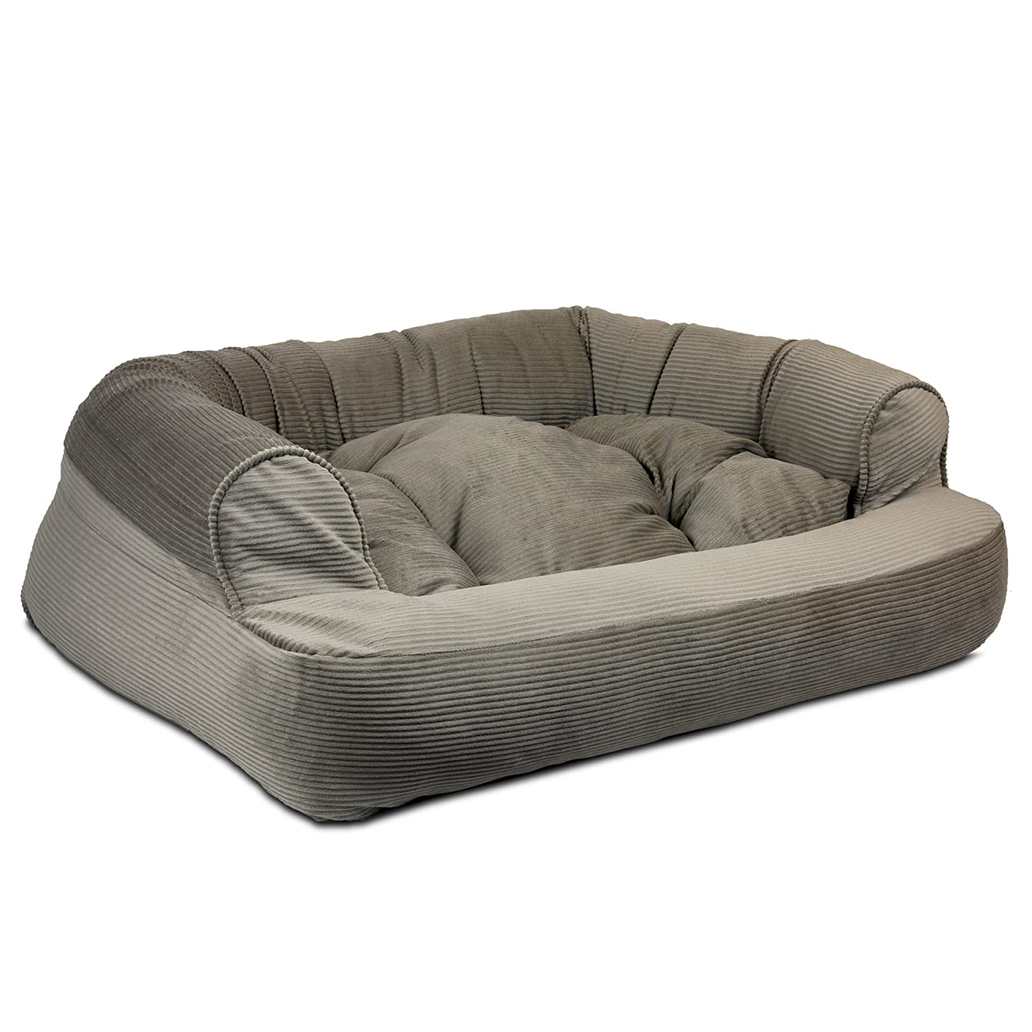 Large Snoozer 14157 Large Overstuffed Luxury Pet Sofa, Tgold Cocoa