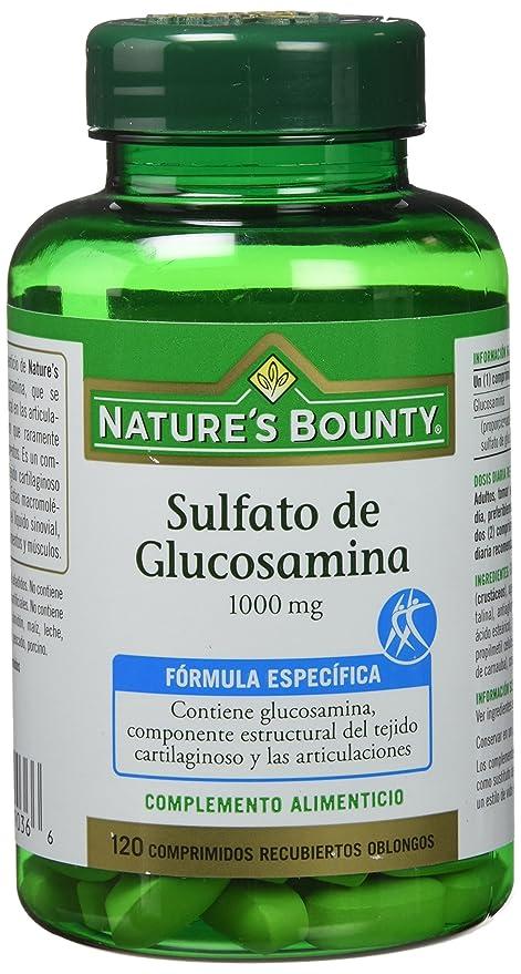 NATUREŽS BOUNTY - SULFATO GLUCOSAMINA 120comp NAT. BOUNTY: Amazon.es: Salud y cuidado personal