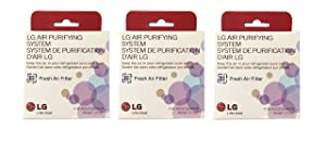 LG LT120F Replacement Fresh Air Filter for Refrigerators - 3 packs
