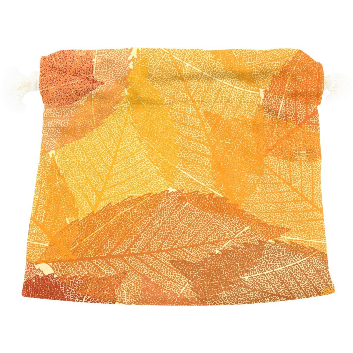 U LIFE Abstract Happy Thanksgiving Day Autumn Fall Maple Leaves Gift Present Wrap Drawstring Bag
