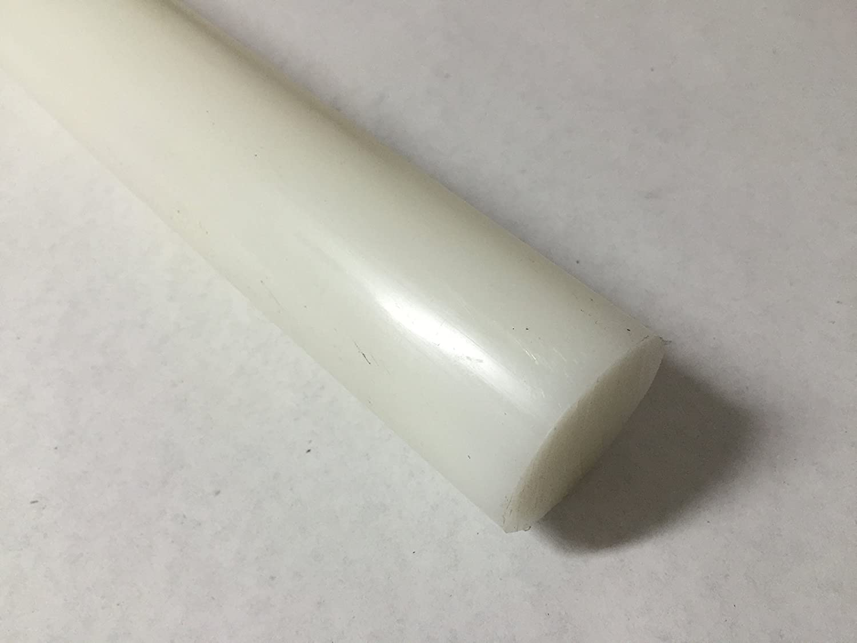 White Color 12 Length 12 Length Acetal Copolymer Plastic Round Rod 1.50 Diameter White Color Polymersan