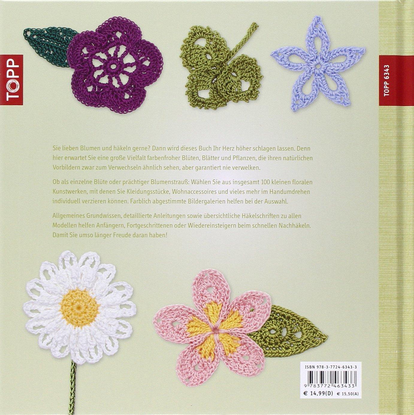 100 Zarte Häkelblüten Blumen Blätter Und Mehr Amazonde Caitlin