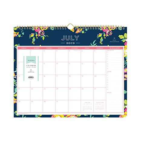 Day Designer for Blue Sky 2019-2020 Academic Year Monthly Wall Calendar,  Twin Wire Binding, 15