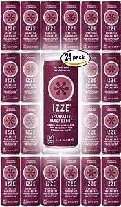 IZZE Sparkling Juice, Blackberry, 8.4 oz Cans (Pack of 24, Total of 201.6 Oz)
