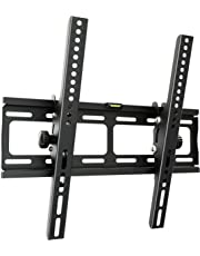 RICOO TV Wandhalterung R09 Universal Fernseh Halterung Neigbar Super Flach Wand Halter Aufhängung auch für Curved LCD und LED Fernseher   ca. 81-165cm / 32-65 Zoll   VESA 200x100 400x400   Schwarz