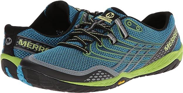 Merrell - Zapatillas para Correr en montaña para Hombre Azul (Algiers Azul/Lime Verde) 40: Amazon.es: Zapatos y complementos