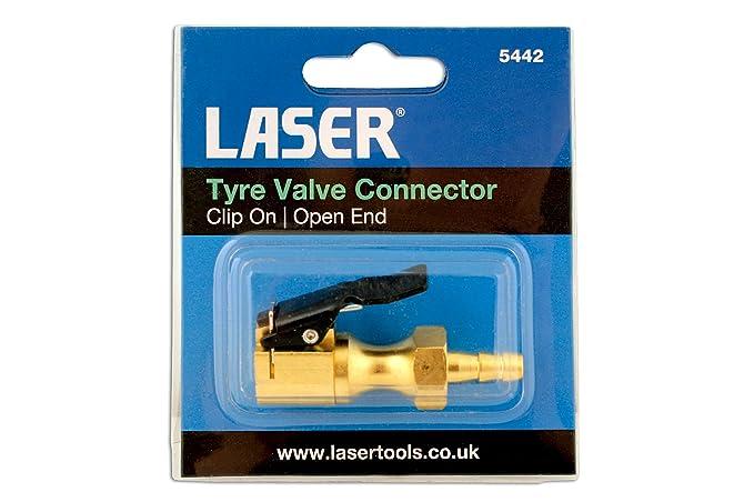 Laser 5442 Conector con clip para la válvula del neumático: Amazon.es: Coche y moto