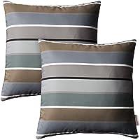 Modway 2 Piece Modway Outdoor Patio Pillow Set, Stripe