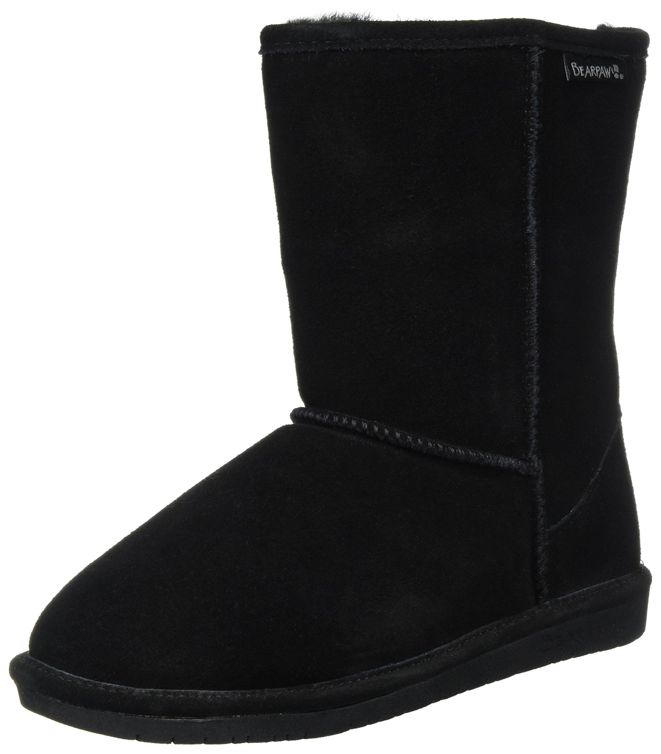 BEARPAW Women's EMMA 8'' Pull On Black Fashion Boot 5 M