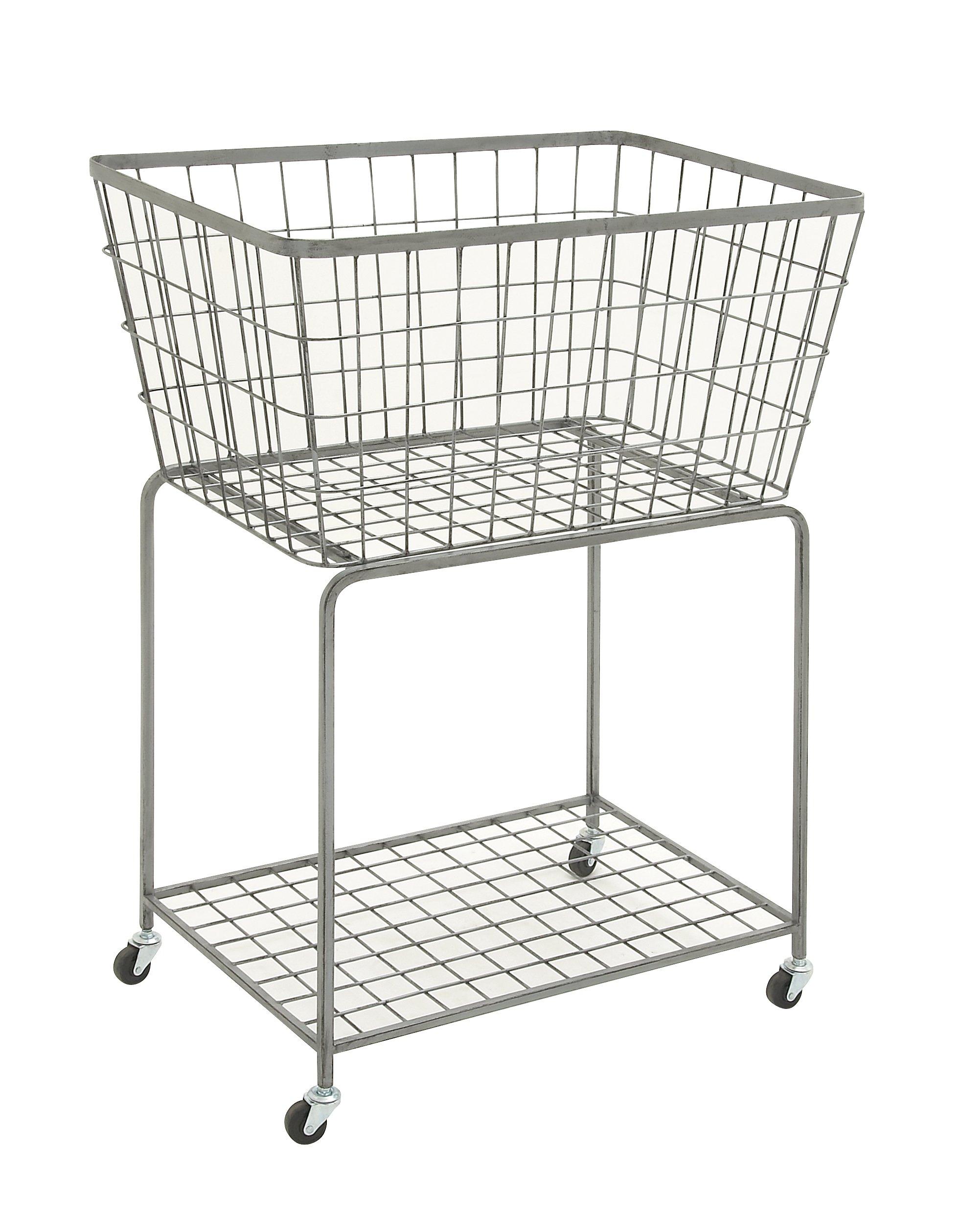 Deco 79 65440 Metal Roll Storage Basket