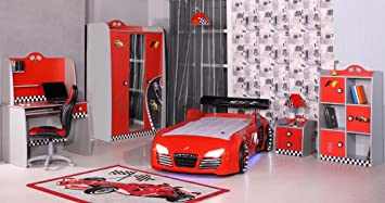 Kinderbett auto audi  Bett Kind Kinderzimmer Autobett Kinderbett Auto - Kleiderschrank ...
