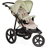 Hauck Runner, Jogger Style, 3-Wheeler, Pushchair with Extra Large Air Wheels, Foldable Buggy, For Children from Birth to 25 kg, Lying Position, Oil