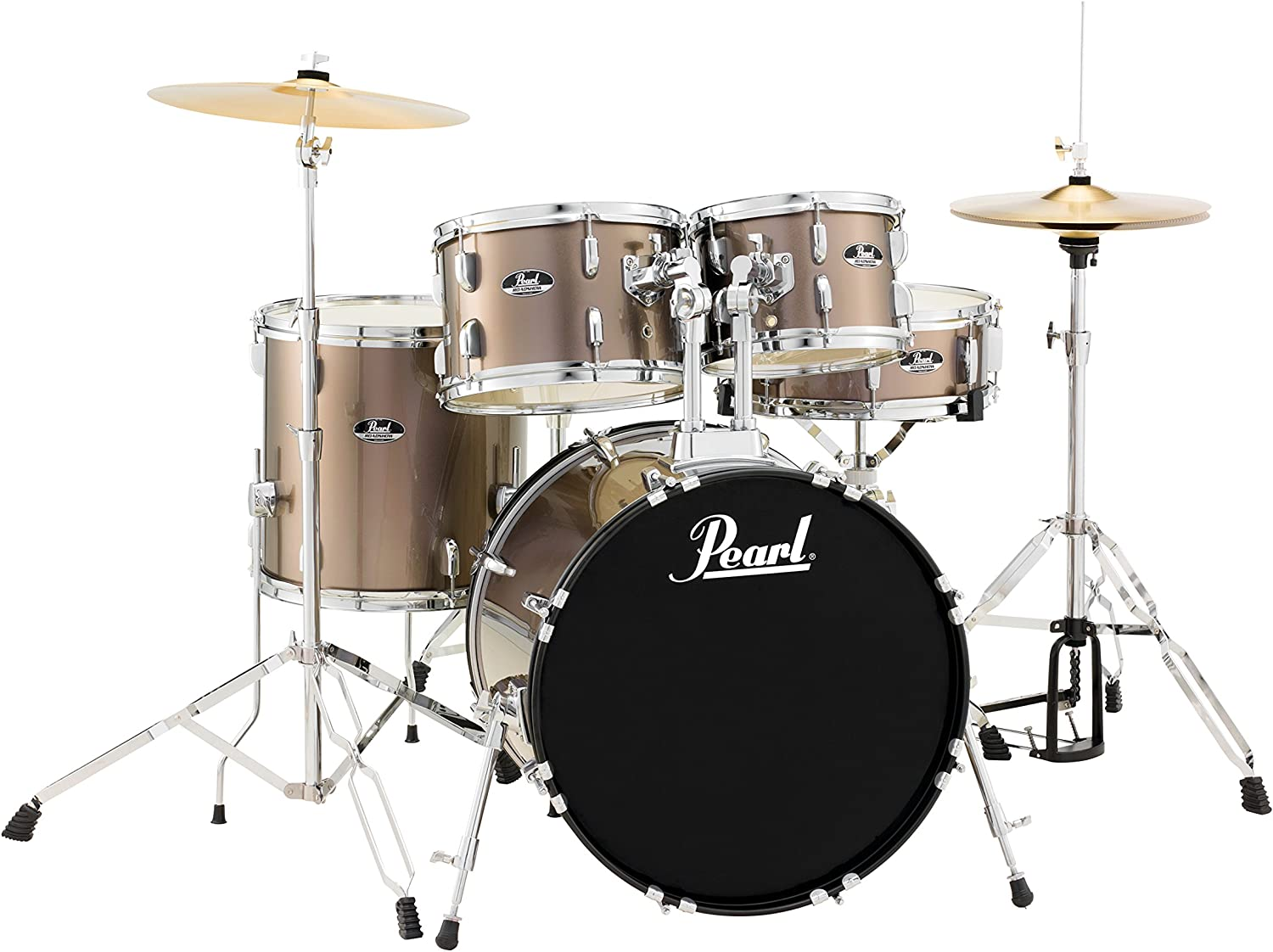 Jet Black RS505C//C31 Pearl Drum Set
