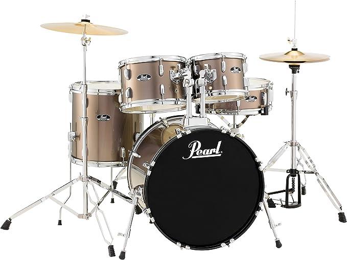 Roadshow 5-Piece Drum Set, Bronze Metallic