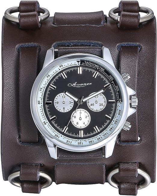 gros bracelet cuir pour montre