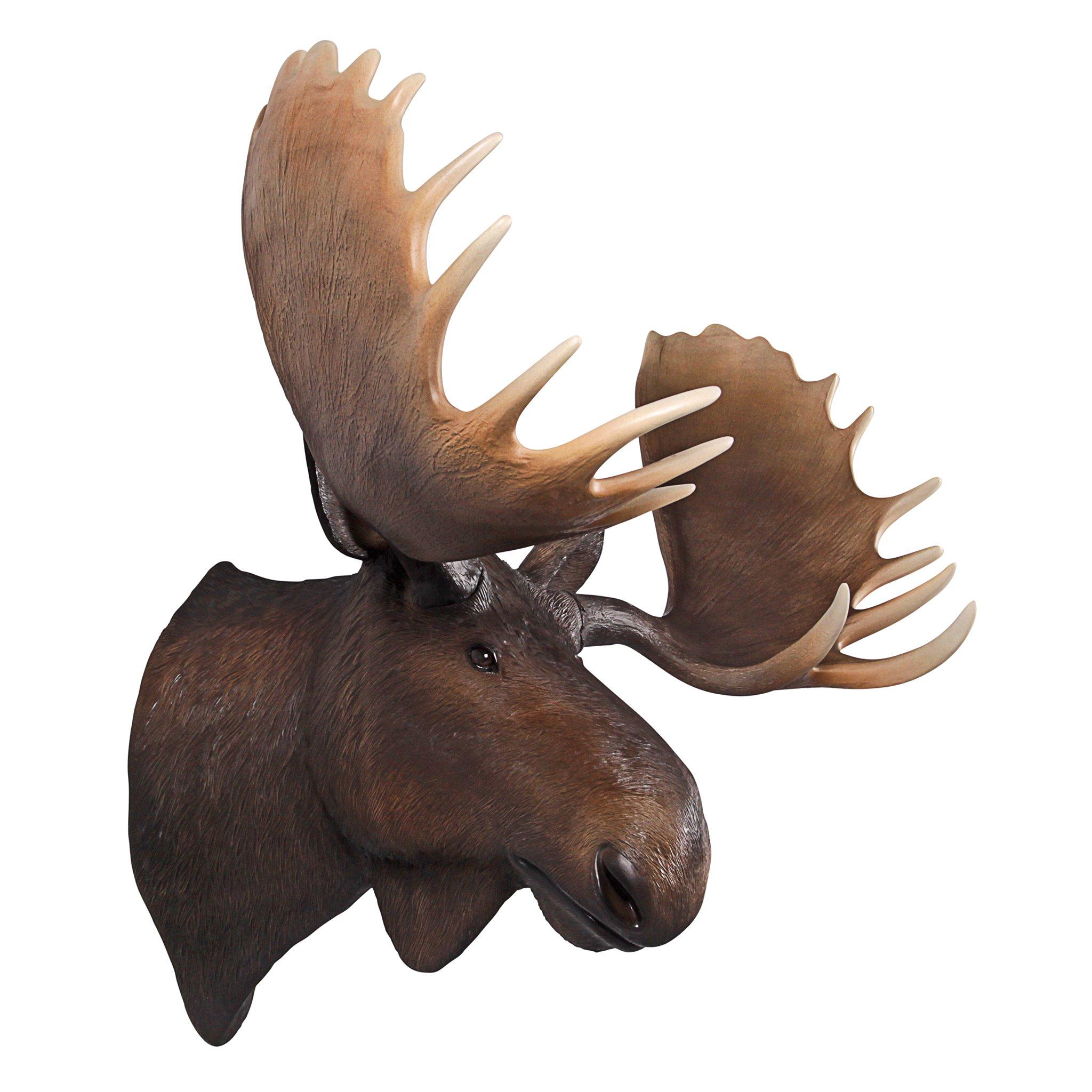 Design Toscano North American Majestic Moose Trophy Head Wall Sculpture