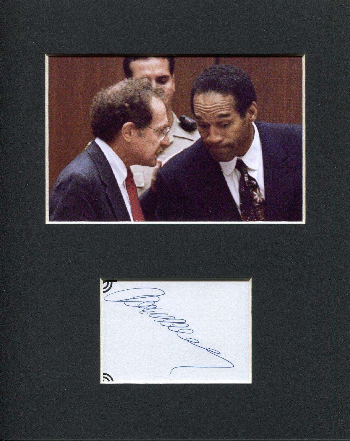Alan Dershowitz Famous OJ Simpson Lawyer Rare Signed Autograph Photo Display HollywoodMemorabilia