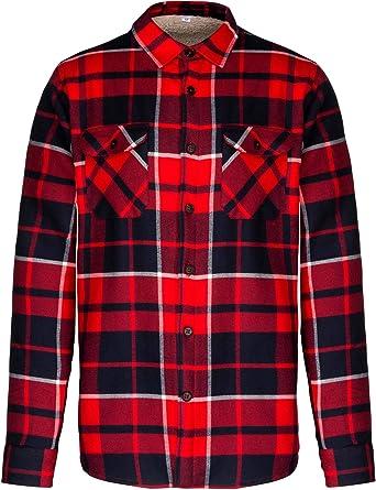 SOUL REBEL - Camisa Leñador Forro de Sherpa - Red/Navy ...