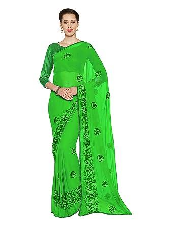 Amazon.com: Mujer Dori bordado sari bollywood indio ropa ...
