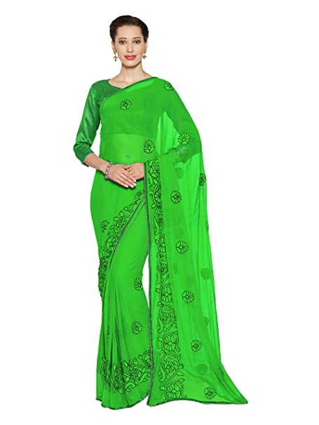 b047bff6f1 Mirchi Fashion Women's Chiffon Dori Embroidery Saree Bollywood Indian  Clothes (3387_Green): Amazon.ca: Clothing & Accessories