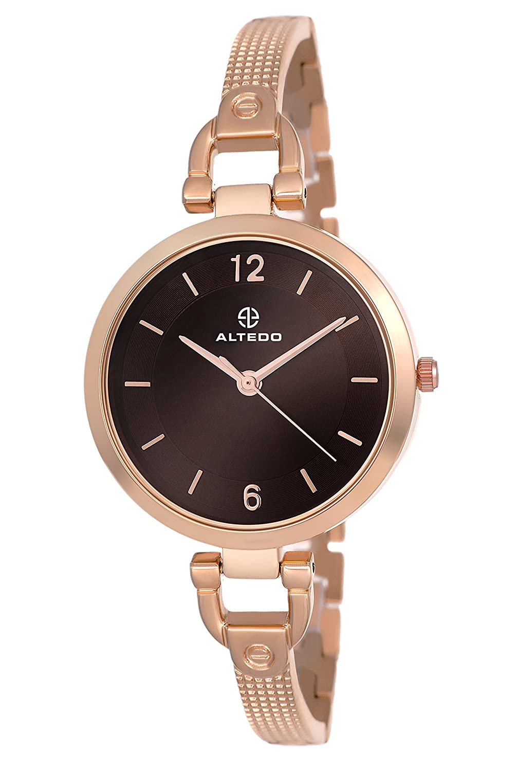 ALTEDO Quartz Movement Analogue Brown Dial Women's Watch