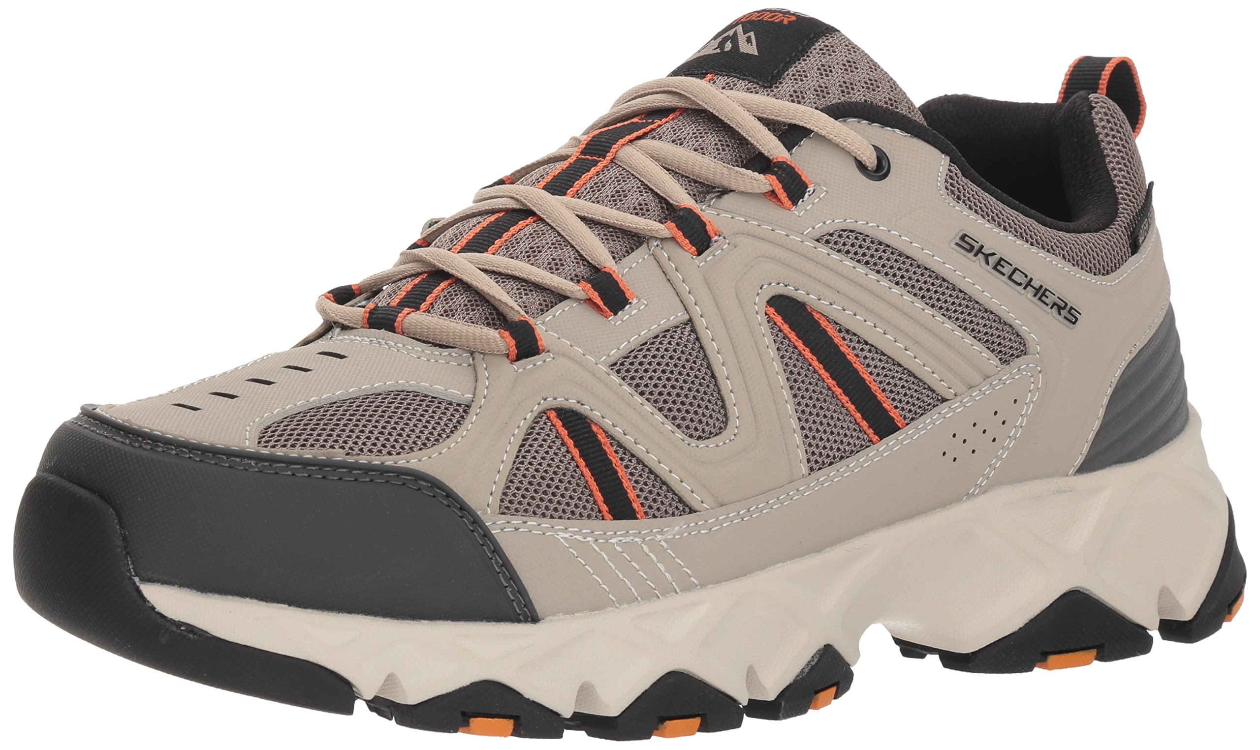 Skechers Men's Crossbar Oxford, Taupe/Black, 11.5 M US