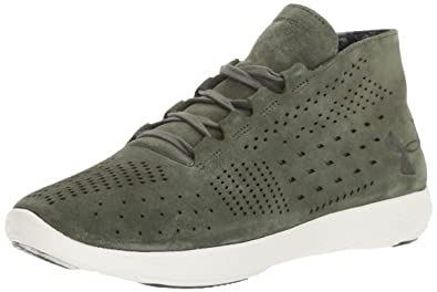 ea91ab66915233 Under Armour Women's Street Precision Mid Lux Sneaker, Downtown Green  (330)/Ivory