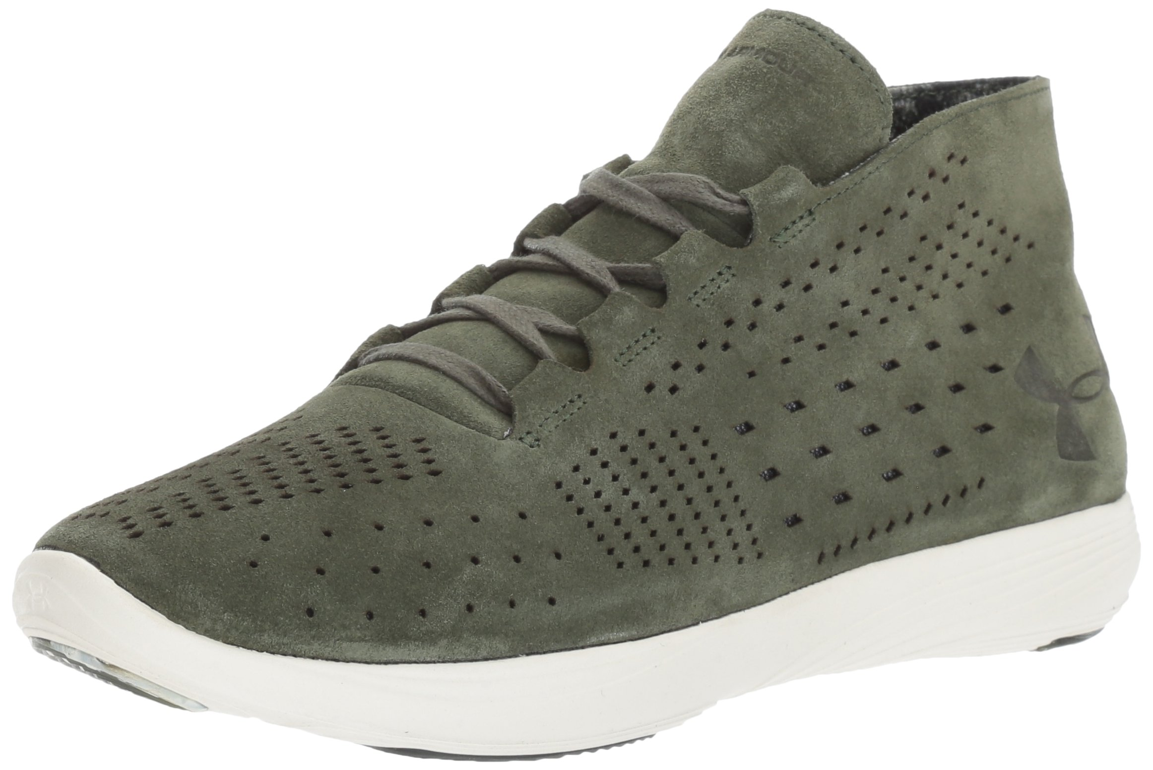 Under Armour Women's Street Precision Mid Lux, Downtown Green/Ivory/Nordic Green, 11 B(M) US