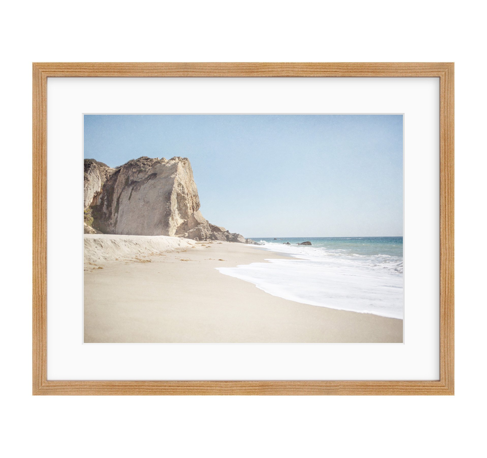 Framed Photographic Print, Malibu Wall Art, California Landscape Beach Picture, Coastal Seascape Decor, Point Dume'