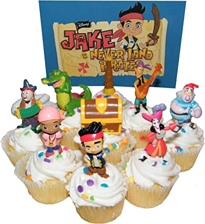 Fantastic Disney Jake And The Never Land Pirates Figure Cake Toppers Cupcake Funny Birthday Cards Online Inifodamsfinfo