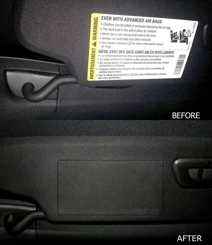 C7 Corvette Stingray/Z06/Grand Sport 2014+ Airbag Warning Cover Overlays - OEM Fabric (Pair) CorvetteMods