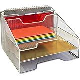 Callas Metal Mesh Desktop File Sorter Tray, CA 2322,Silver