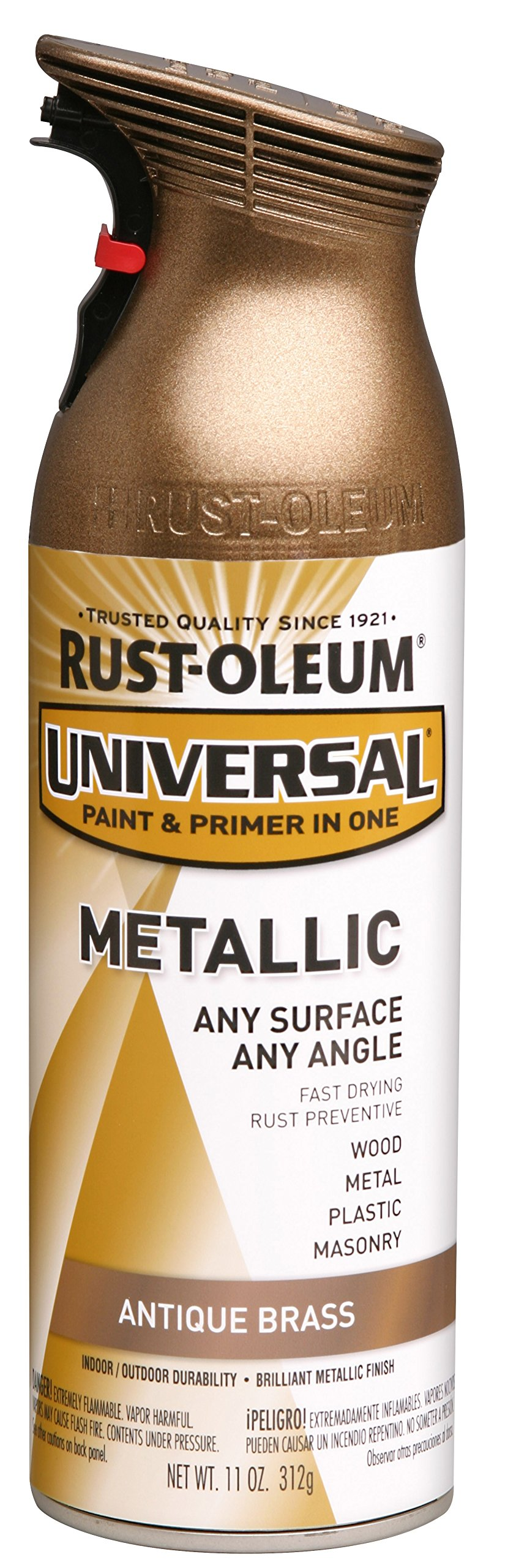 Rust-Oleum 260728 Universal All Surface Spray Paint, 11 oz, Metallic Antique Brass by Rust-Oleum (Image #1)