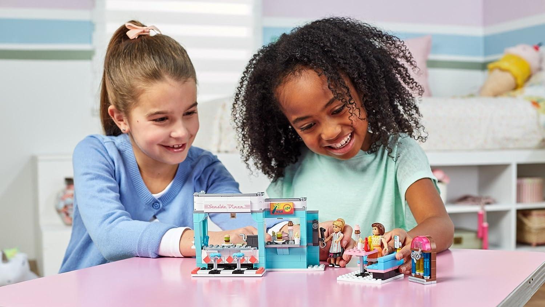 MEGA CONSTRUX AMERICAN GIRL MAYELLEN/'S SEASIDE DINER BUILDING PLAY FTY37SET