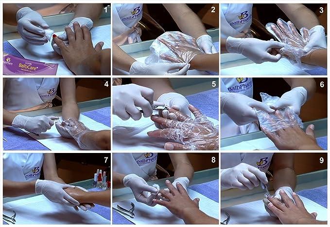 Ocibel - Balbcare guante Manicura brasileña incluye 1 lima y barra ...