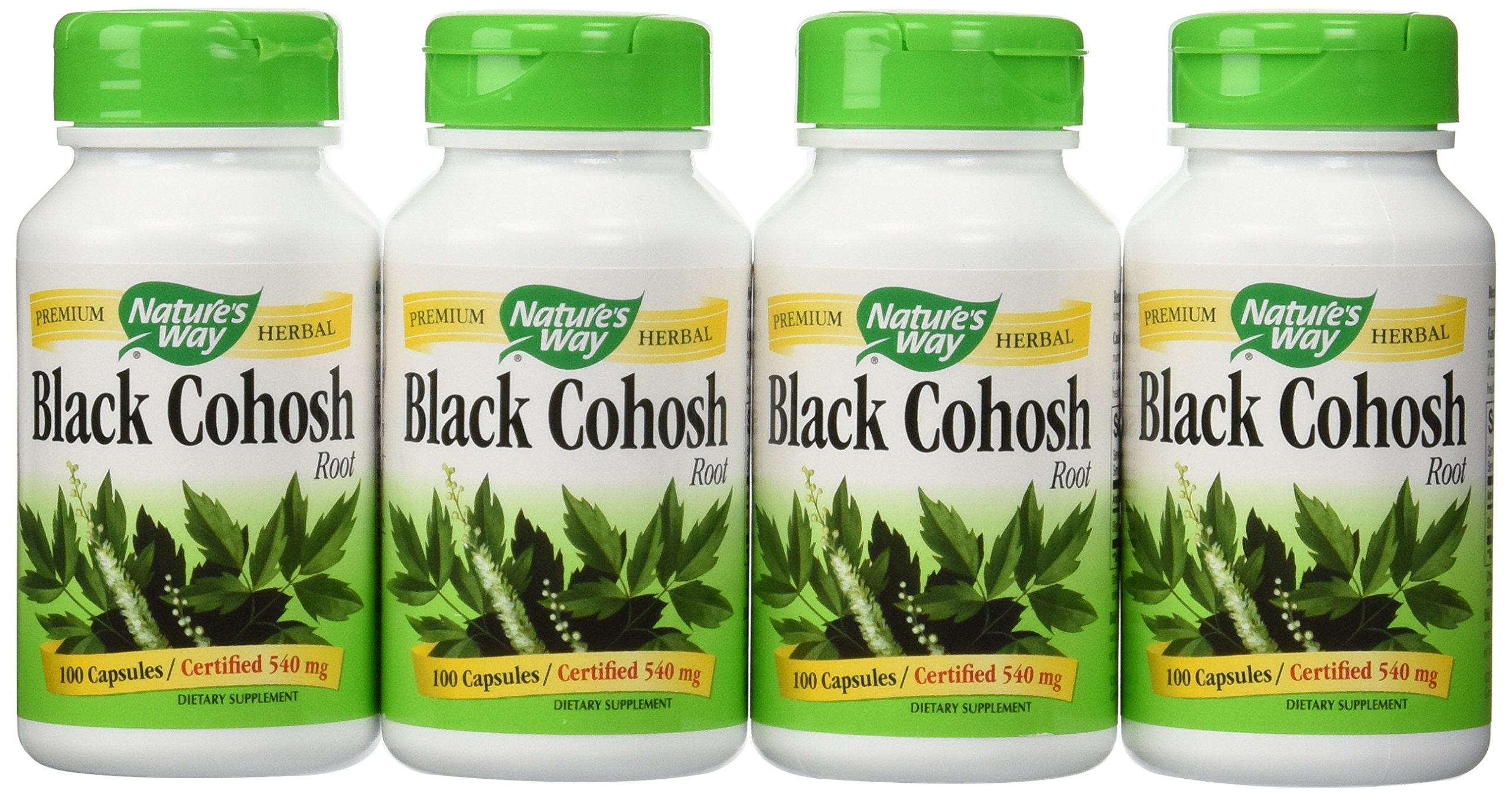 Nature's Way Black Cohosh Root, 100 Capsules (Pack of 4)