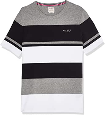 GUESS Men's Crew Neck Small Sleeve Stick Together T-Shirt
