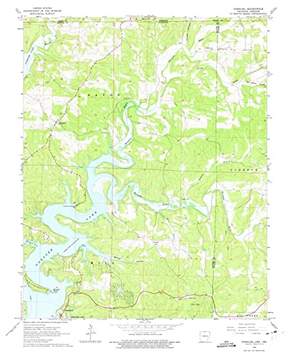 Amazon.com: Arkansas Maps | 1965 Gamaliel, AR USGS ...
