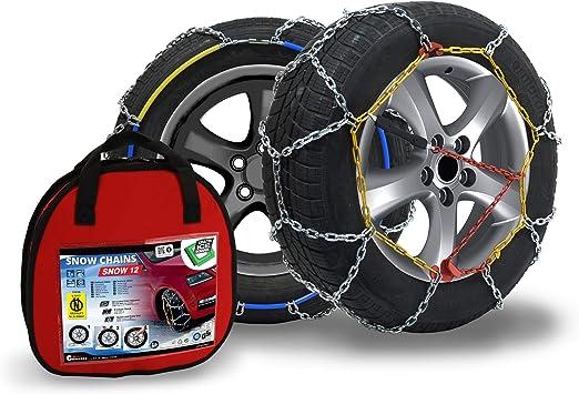 Compass Schneeketten Snow 12mm Für Reifen 235 55 R19 Önorm TÜv Geprüft 150 1 Paar Extra Stark Auto