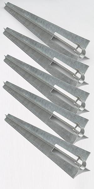 f/ür Rundpfosten 38 mm /Ø Zaun-Nagel Bodenh/ülse Einschlagh/ülse mit Klemmschelle