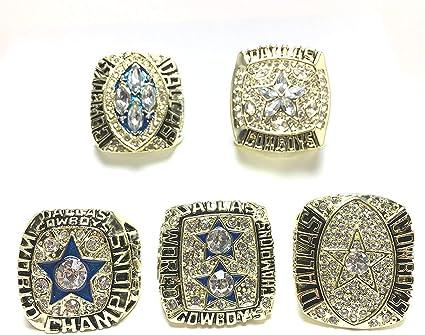 Dallas Cowboys Supper Bowl Championship Ring Set Collection World Series Display Box Set